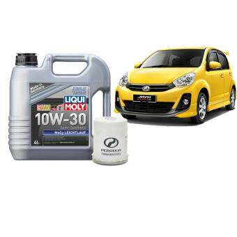 Perodua Myvi Semi Synthetic Service Package using Liqui Moly 10W30 MoS2 4L