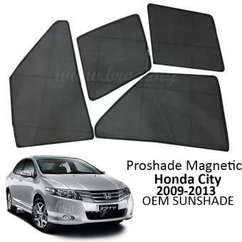 Proshade Magnetic Custom Fit OEM Sunshades/ Sun shades for HondaCity 2008-2013 - 4pcs