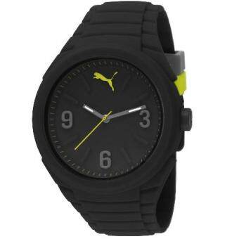 Puma PU103592001 Gummy Black Silicone Strap Men Watch