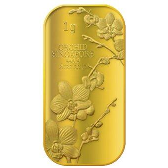 Puregold Singapore Orchid (SERIES 1) Gold Bar 1g.