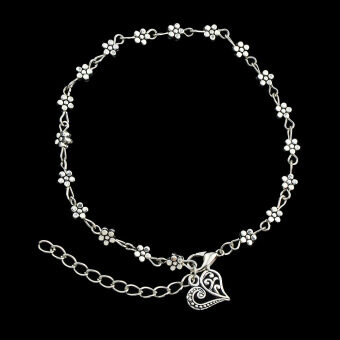 Harga Qingdao big european and american popular trade jewelry jewelrykorean version of the simple silver flower anklets
