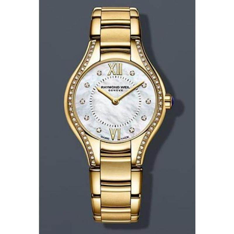 Raymond Weil Noemia Mother of Pearl Diamond Yellow Gold PVD Steel Ladies Watch 5124-PS-00985 Malaysia