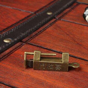 Retro Chinese Old Style Lock Padlock Bronzy Vintage Antique Locks - 3