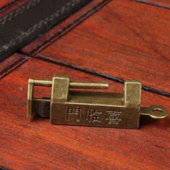 Retro Chinese Old Style Lock Padlock Bronzy Vintage Antique Locks - 5
