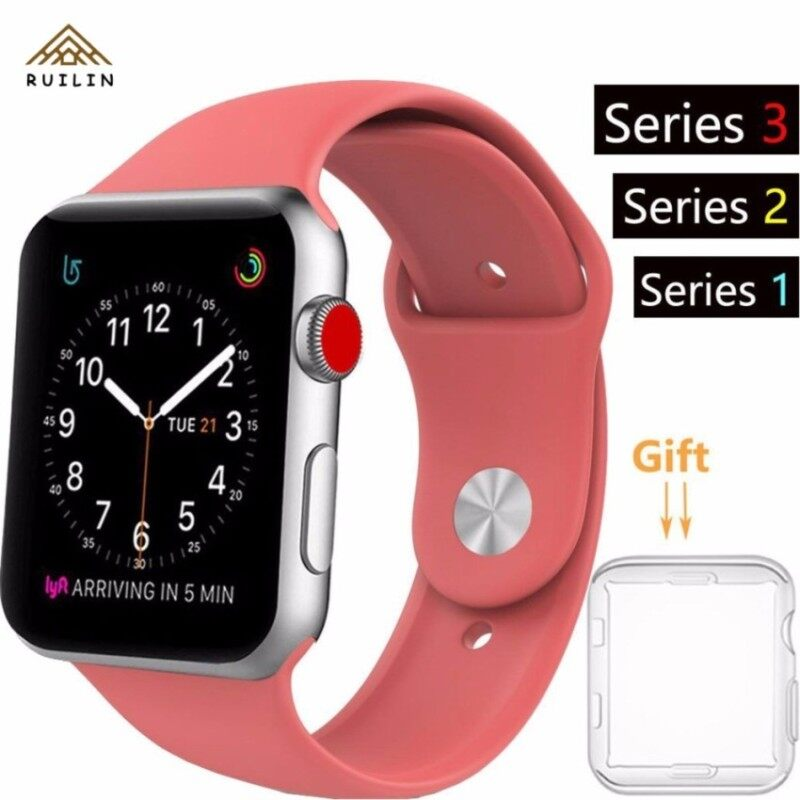 Ruilin�â�€�™s House i Phone Watch Band Series 1 Series 2 Series 3 . 38mm Silicone i Watch Smart Watch Sport Band Quick Release Bracelet Strap Wristband Replacement Watchband Malaysia