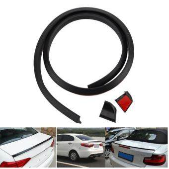 Samurai Rear Rubber Bonnet Spoiler Black 4.5cm(B)