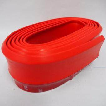 Samurai Rubber Skirt 3M Length Lip Skirt Protector Universal CarFront Lip Bumper Rubber Strip-Red