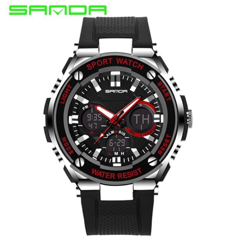 SANDA 733 Waterproof Outdoor Multifunctional Sports Mens Quality Shockproof Digital Watch (Red) Malaysia