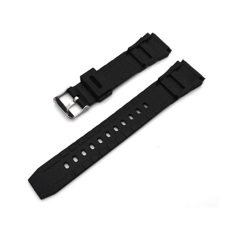 Sanwood® 18-22mm Men Black Silicone Rubber Waterproof Sport Wrist Watch Band Strap 20mm Malaysia