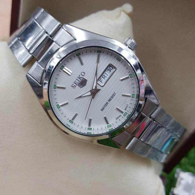 Seiko Watch 5 Automatic Silver Stainless-Steel Case Malaysia