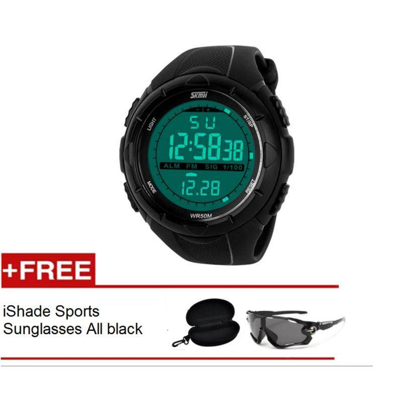 Skmei 1025 Sports Military LED Watch Week Alarm Date Stopwatch 5ATM Water Resistant Malaysia