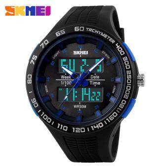 SKMEI 1066 Waterproof Shockproof Men Mountaineering ElectronicWatches Watch Jam Tangan(BLUE)