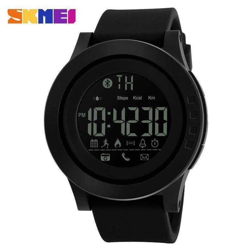 SKMEI 1255 Mens Waterproof Electronic Sports Watch Calorie Step Bluetooth Watch Black Malaysia
