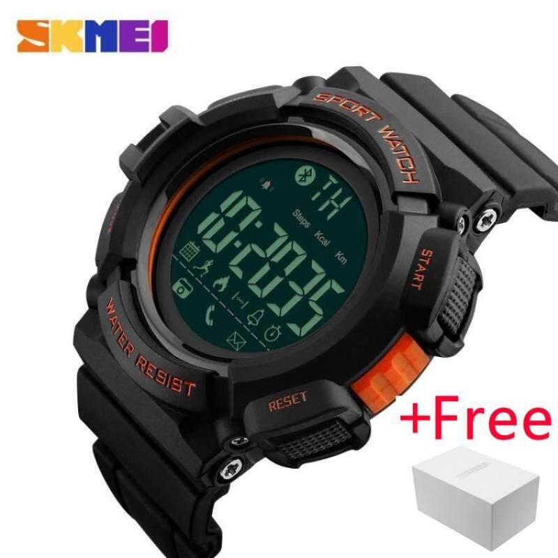 SKMEI Bluetooth Smart Watch Jam Tangan  Men Sports Watch Jam Tangan es Pedometer Calories Chronograph Fashion 50M Waterproof Digital WristWatch Jam Tangan es 1245 Malaysia