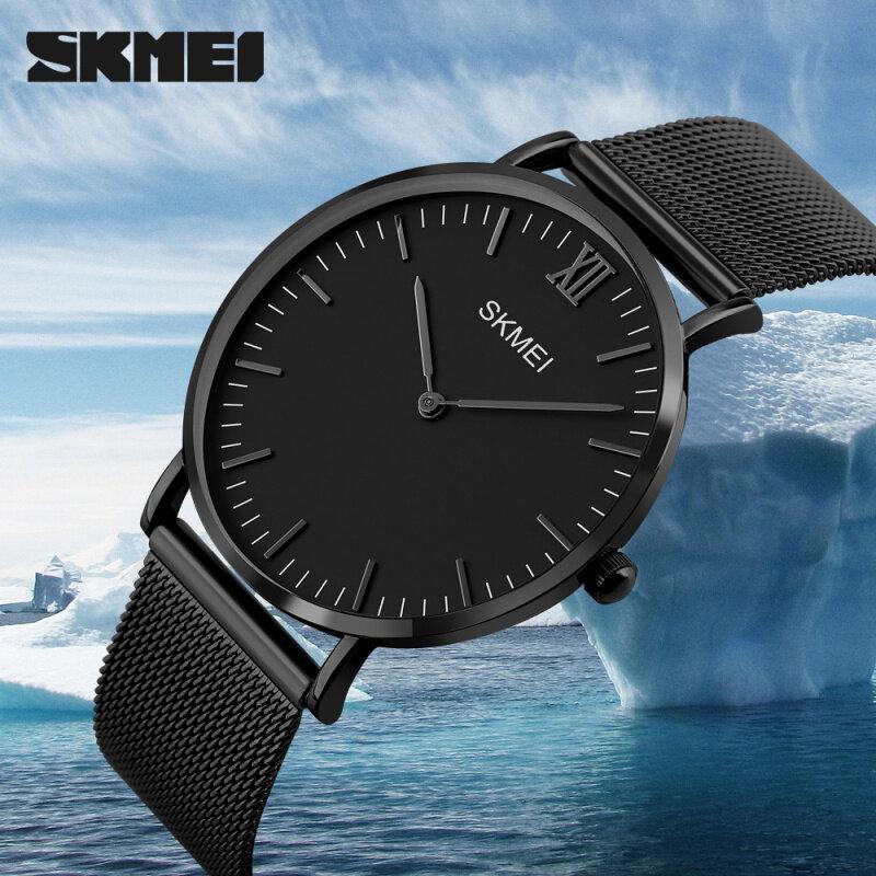 SKMEI Brand Watch  Fashion Simple Stylish Luxury  Watches Men Stainless Steel Mesh Strap Thin Dial Clock Man Casual Quartz Watch1181 Malaysia