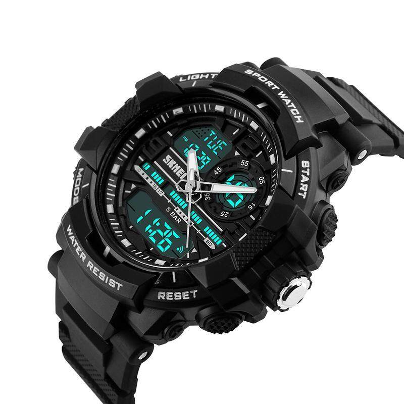 SKMEI Large Design Sport Watch Jam Tangan  Men Digital LED Waterproof Alarm Calendar Chronograph Back Light WristWatch Jam Tangan  1164 Malaysia