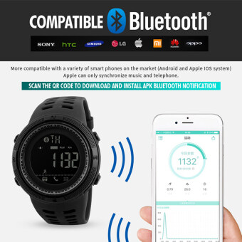 SKMEI Men's Fashion Smart Wristwatch SKMEI Pedometer Calorie Digital Watch For Apple IOS Android System Men Women Waterproof Sports Watches 1250