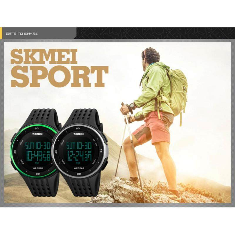 SKMEI Outdoor Sports Watches Hiking Men Watch Digital LED Electronic Watch Man Sports Watches Chronograph Men Clock Malaysia