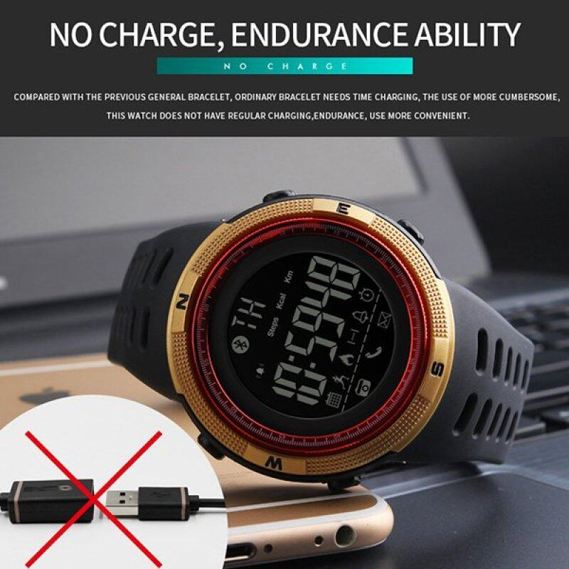 SKMEI Watch 1250 Fashion Smart Wristwatch SKMEI Pedometer Calorie Digital Watch For Apple IOS Android System Men Women Waterproof Sports Watches Malaysia