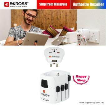 Harga SKROSS PRO World and USB Charger USB Travel Adapter (White)