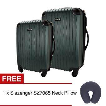 Slazenger SZ2529 ABS 2-in-1 Expandable Hardcase Luggage Set Green