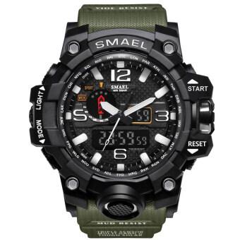 SMAEL Watch 1545 Waterproof Fashion Watch Men Sport Analog Quartz-Watch Dual Display LED Digital Electronic Watches Relogio Masculino