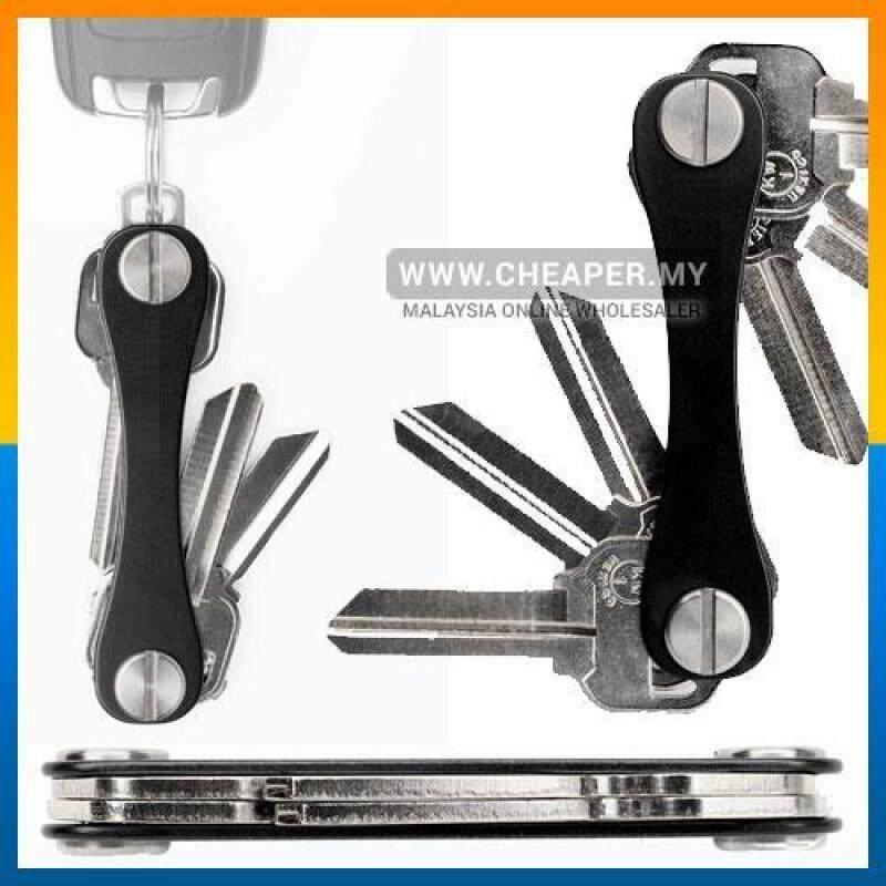 Smart Key Holder Organizer Swiss Style Keychain Clip Pocket (Black) Malaysia