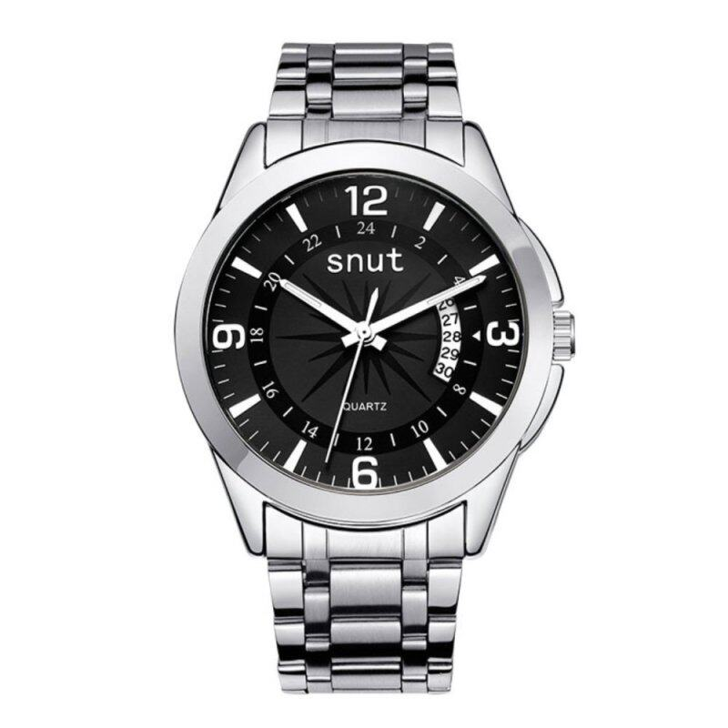 SNUT Bussiness VINTAGE Mens Watch Stainless Steel Strap Watch(Black) Malaysia