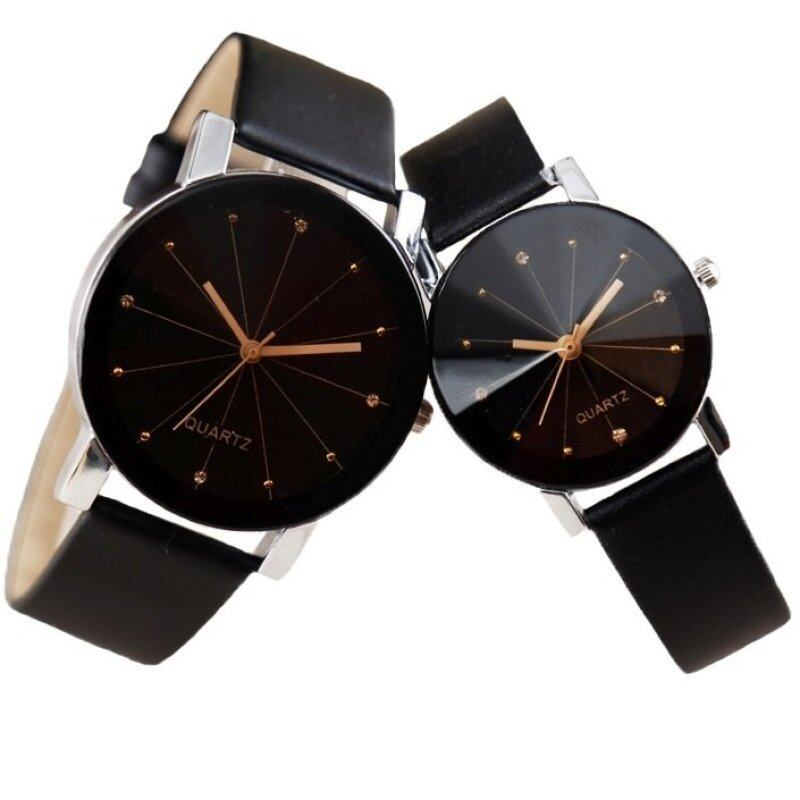 SoKaNo Trendz C01 Fashion Couple Watch- Black Malaysia