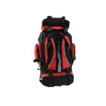 Sports Cam 60L Outdoor Backpack for Hiking and Camping - Red