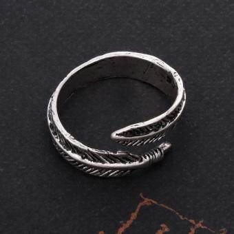 Stainless Steel Rings for Men Women Biker Ring Vintage Feather - 3