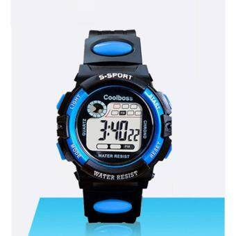 Harga Students Kids Sport Waterproof Rubber Band Electronic Digital LED Wrist Watch For Children Boys Girls KW-004