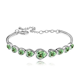 Swarovski High Quality Heart Bracelet Made with Swarovski ElementsCrystal From Swarovski Pulseira Women Bijoux for Wedding - 4
