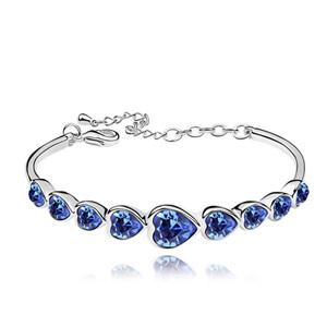 Swarovski High Quality Heart Bracelet Made with Swarovski ElementsCrystal From Swarovski Pulseira Women Bijoux for Wedding - 5