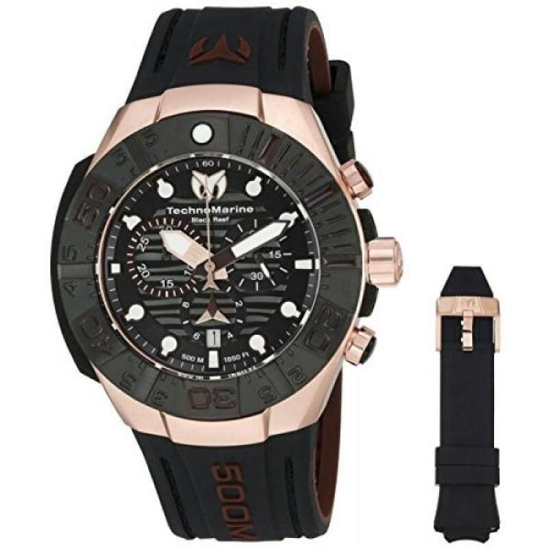 Technomarine Mens Black Reef Swiss Quartz Stainless Steel Casual Watch (Model: TM-515019) Malaysia