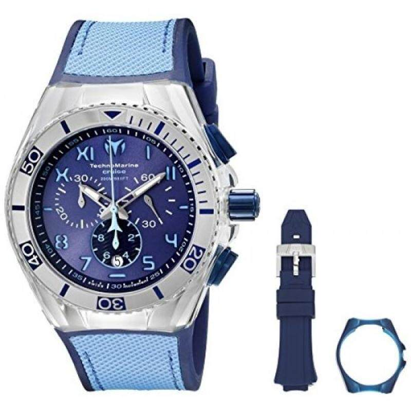 Technomarine Mens TM-115069 Cruise California Analog Display Swiss Quartz Blue Watch Malaysia