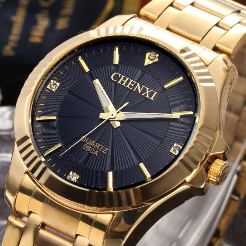 The genuine business men all steel watch with quartzs foreign trade wholesale sales are waterproof Malaysia