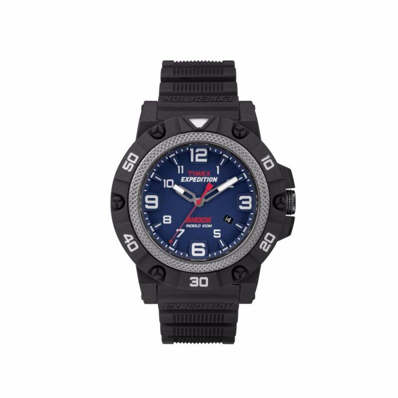 Timex Expedition Field Shock - Black Resin Strap - Blue Dial (TW4B01100) Malaysia