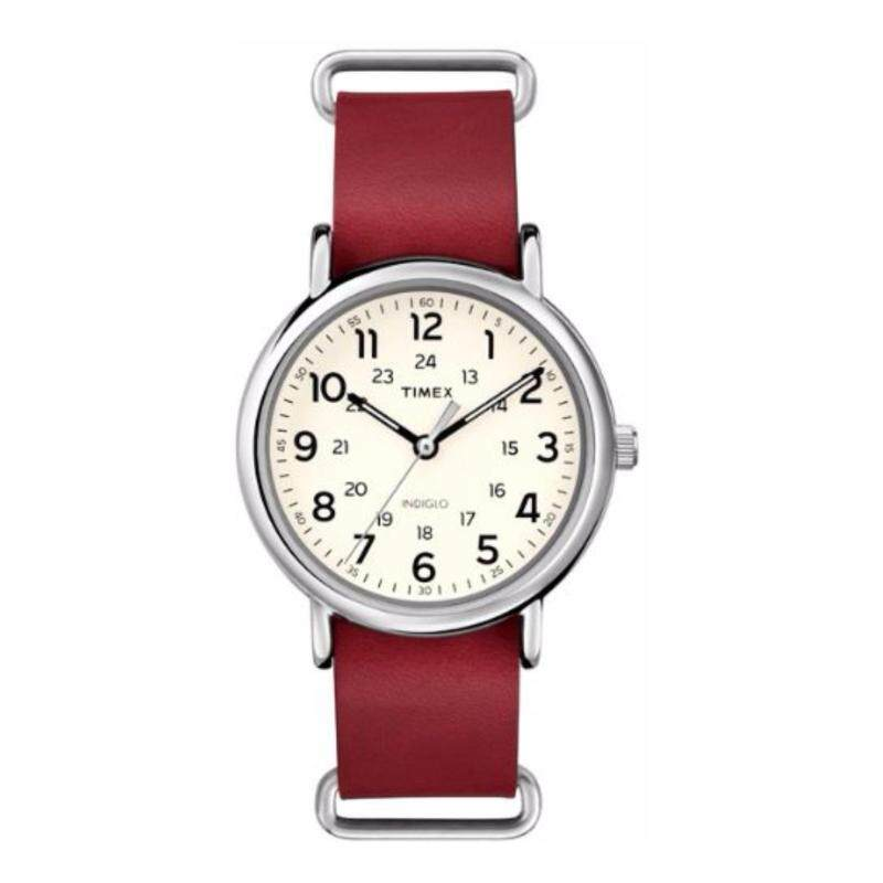 Timex Men T2P493 Weekender™ - Leather Oversized Genuine Leather Strap Watch Malaysia