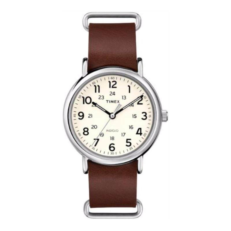 Timex Men T2P495 Weekender™-  Leather Oversized  Genuine Leather Strap Watch Malaysia