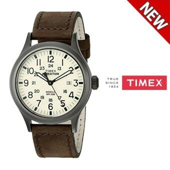 Harga Timex Men's T49963 Expedition Scout Brown Leather Strap Watch(Brown)
