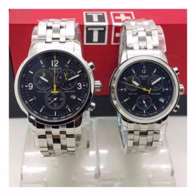 Tissot Couple Steel Silver/Black Dial Watch Malaysia