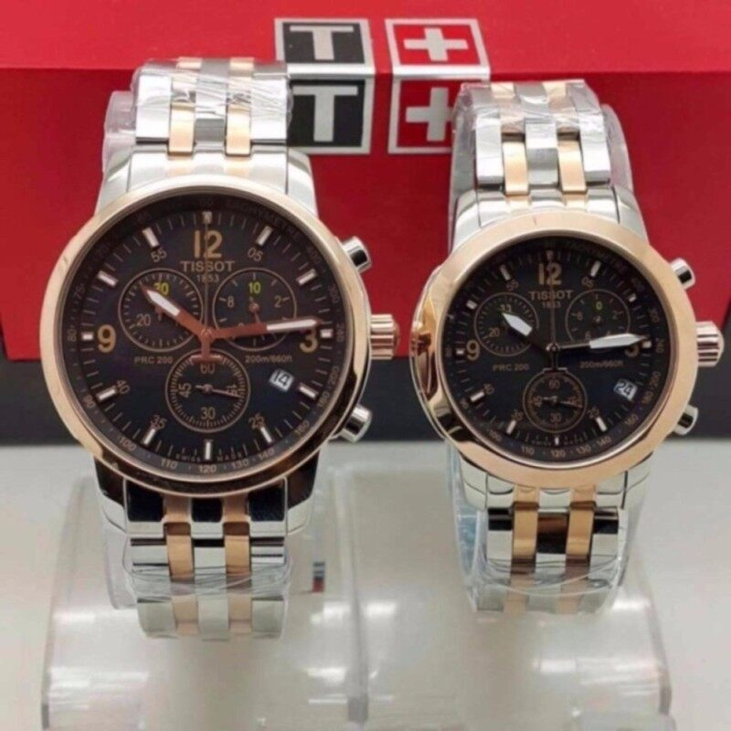 Tissot Couple Steel Silver/Rose Gold Watch Malaysia