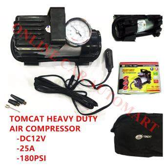 TOMCAT Heavy Duty Air Compressor With LED,Strong Durable for Tyre Inflator Emergency Car Truck Lorry Bus Bike Air Pump for Sports Camping