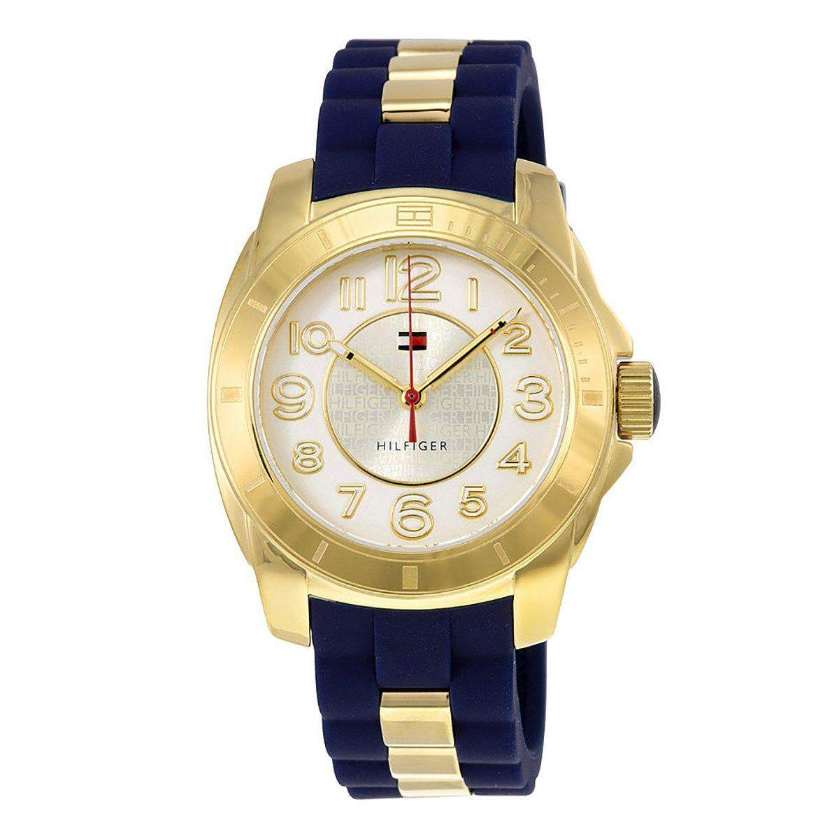 Tommy Hilfiger Watch Quartz Multicolored Stainless-Steel Case Silicone Strap Ladies NWT + Warranty 1781307