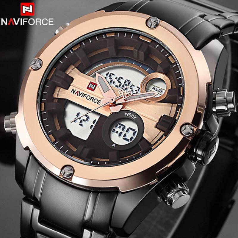 Top Brand NAVIFORCE Men Military Waterproof LED Sports Watches Mens Digital Analog Clock Male Wrist Watch relogio masculino Malaysia