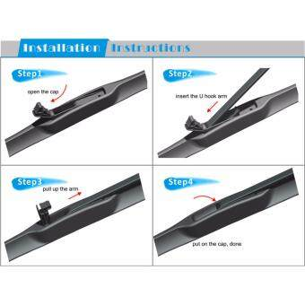 "Toyota Altis 2001-2008 4S Professional Series Wiper Silicone Blades 24"" + 16\"" (1 pair)"