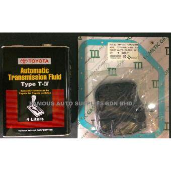 TOYOTA AUTOMATIC TRANSMISSION FLUID TYPE T-IV 4L WITH AUTOMATIC TRANSMISSION FILTER & GASKET FOR TOYOTA VIOS NCP42