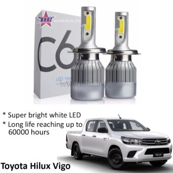 Harga Toyota Hilux Vigo (Head Lamp) C6 LED Light Car Headlight Auto Headlight Lamp 6500k White Light