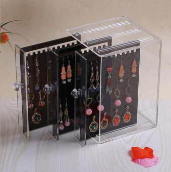 Harga Transparent Acrylic Earring Storage Box